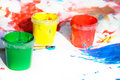 Free Tree Containers With Paint Stock Image - 9943271