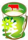 Free Cap Of Milk Royalty Free Stock Photos - 9943498