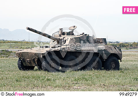 Rooikat Armoured Fighting Vehicle Stock Photo