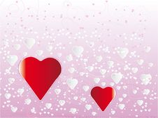 Free Couple Of Hearts Stock Image - 9940051