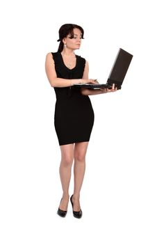 Free The Girl With The Laptop Royalty Free Stock Images - 9940359