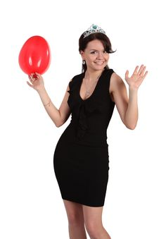 Free The Girl With Balloons Royalty Free Stock Image - 9940436