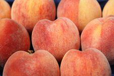 Fresh Fuzzy Peaches Stock Images
