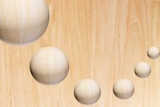 Free Wooden Spheres Royalty Free Stock Photos - 9941568