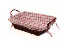 Free Bread Basket Isolated Over White Stock Image - 9942931
