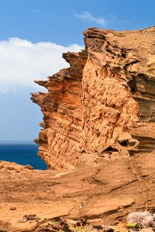 El Golfo Rock, Lanzarote. Royalty Free Stock Photography