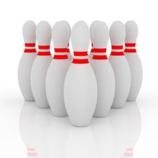 Free Bowling Pins Stock Photography - 9943432