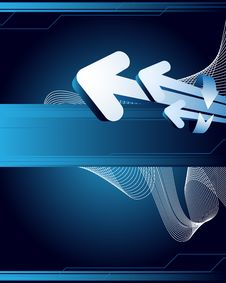Free Blue Abstract Background Royalty Free Stock Photography - 9943447