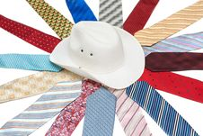 Free White Hat On Tie Stock Photo - 9943720
