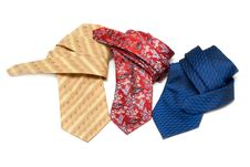 Three Ties Convolute Stock Photo