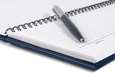 Free Pen & Notebook Royalty Free Stock Images - 9943809