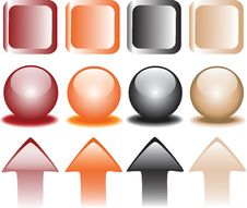 Coloured Snap Fasteners Stock Image