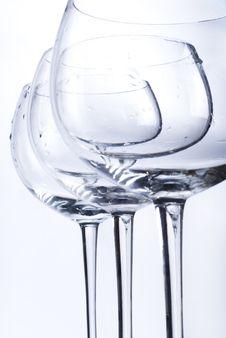 Free Three Empty Glasses Stock Photography - 9944112