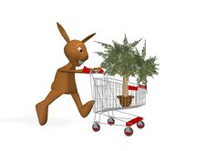 Free Rabbit Buys A Tree Royalty Free Stock Images - 9944279