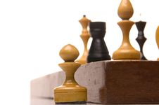 Free Chessmen On A Chessboard Stock Images - 9947394