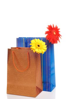 Two Paper Bags For Gifts Royalty Free Stock Image