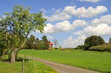 Free Swedish Countryside Royalty Free Stock Photo - 9948045