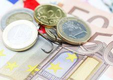 Hidden Euro Catch Stock Photos