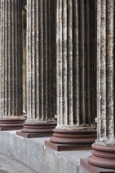 Classical Marble Columns Stock Image