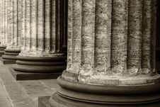 Classical Marble Columns Royalty Free Stock Image