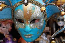 Free Traditional Colorful Venice Mask Royalty Free Stock Photography - 9948617