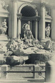 Trevi Fountain In Rome,Italy Stock Photo