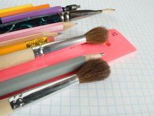 School Supplies Royalty Free Stock Images