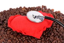 Free Heart On Coffee Beans Stock Images - 9949004