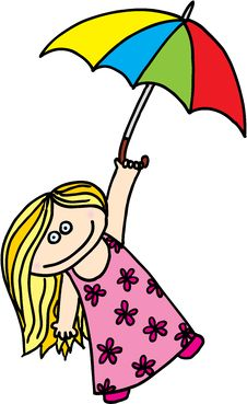 Free Girl With Umbrella Royalty Free Stock Photo - 9949975
