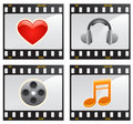 Free Film With Symbols Vector Stock Images - 9952794