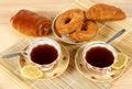 Free Tea And Rolls Stock Image - 9953801