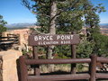 Free Bryce Canyon: Bryce Point Elevation Sign, Utah, US Royalty Free Stock Images - 9955829