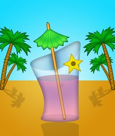 Summer Cocktail Royalty Free Stock Photos