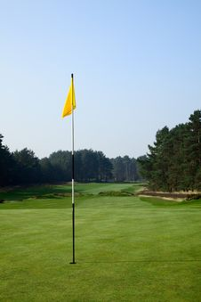 Free Flag On A Golf Field Royalty Free Stock Photography - 9950587
