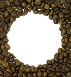 Free Round Frame Made Of Coffee Beans Stock Photos - 9950923
