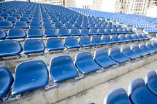 Free Blue Sector In Stadium Royalty Free Stock Photos - 9951888