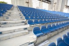 Free Stadium Seats With Aisle Royalty Free Stock Images - 9951889