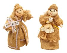 Free Two Fabric Dolls Royalty Free Stock Image - 9952226