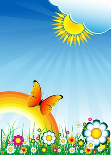 Free Colorful Floral Background Stock Image - 9952351