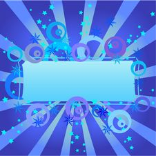 Free Blue Design Frame Royalty Free Stock Image - 9952456