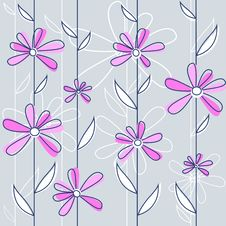 Free Floral Pattern Vector Stock Image - 9952581