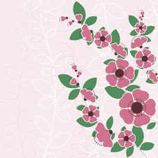 Free Floral Design Vector Royalty Free Stock Images - 9952639