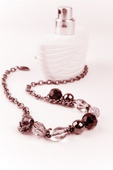 Free Necklace And Parfume Bottle Stock Photo - 9952870