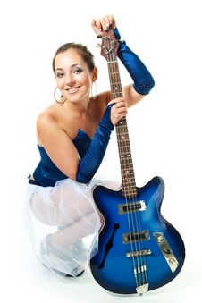 Free Sexy Girl With A Guitar Royalty Free Stock Image - 9953316