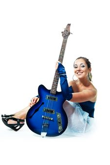 Free Sexy Girl With A Guitar Stock Photo - 9953400