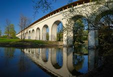 Free Stitched Panorama. Rostokinskiy Aqueduct In Moscow Stock Image - 9953661
