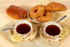 Free Tea And Rolls Stock Image - 9953801