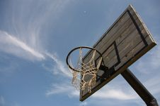 Basketball Board In The Blue Sky Stock Photo