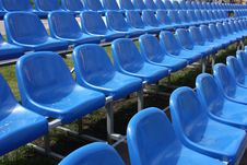 Free Blue Seats At The Football Stadium Stock Image - 9954201
