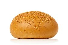 Free Warm Fresh Bun With Sesame Seeds Stock Photo - 9954270